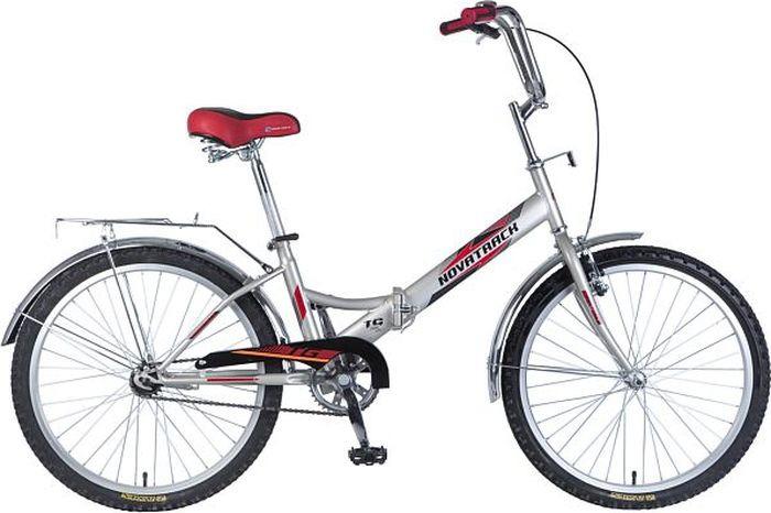 Велосипед складной Novatrack FS-24, колесо 24, рама 14,5, 24FFS1V.GR8, зеленый велосипед складной novatrack fs цвет черный 24