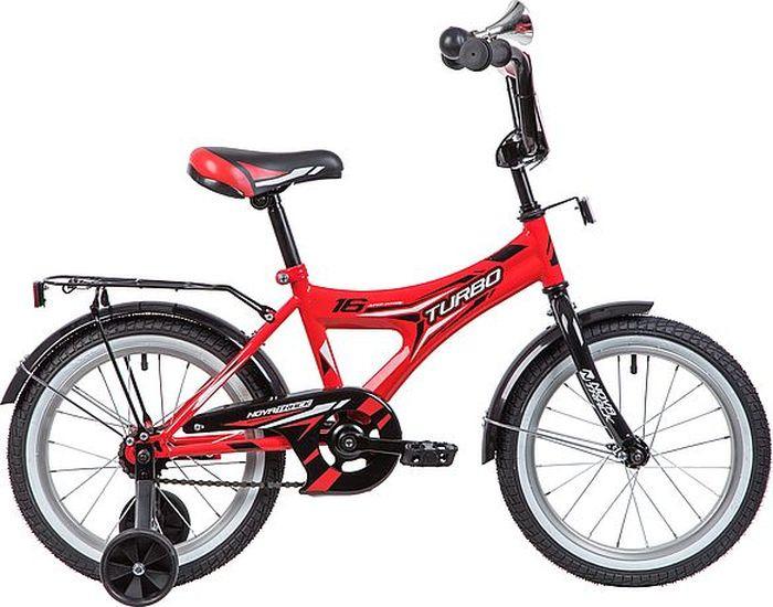 Велосипед детский Novatrack Turbo, колесо 16, рама 10,5, 167TURBO.RD9, красный