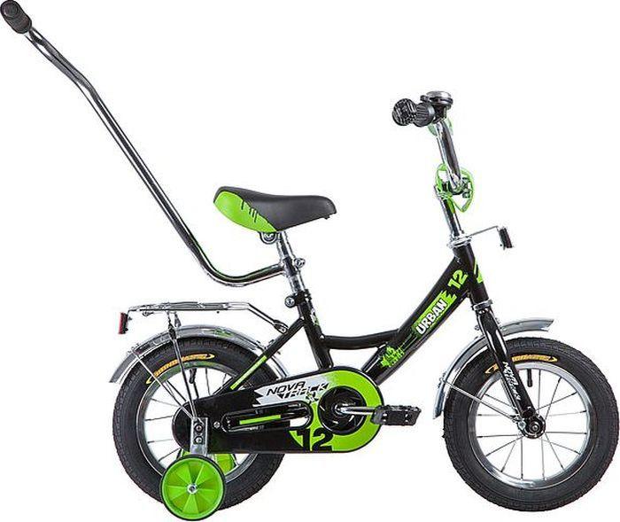 Велосипед детский Novatrack Urban, колесо 12, рама 8,5, 124URBAN.BK9, черный