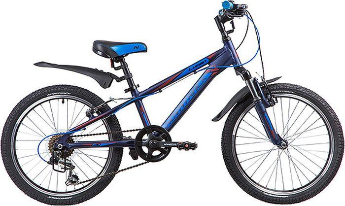 Велосипед детский Novatrack Lumen, колесо 20, рама 10, 20AH6V.LUMEN.BL9, синий велосипед novatrack lumen синий 24 рама 13