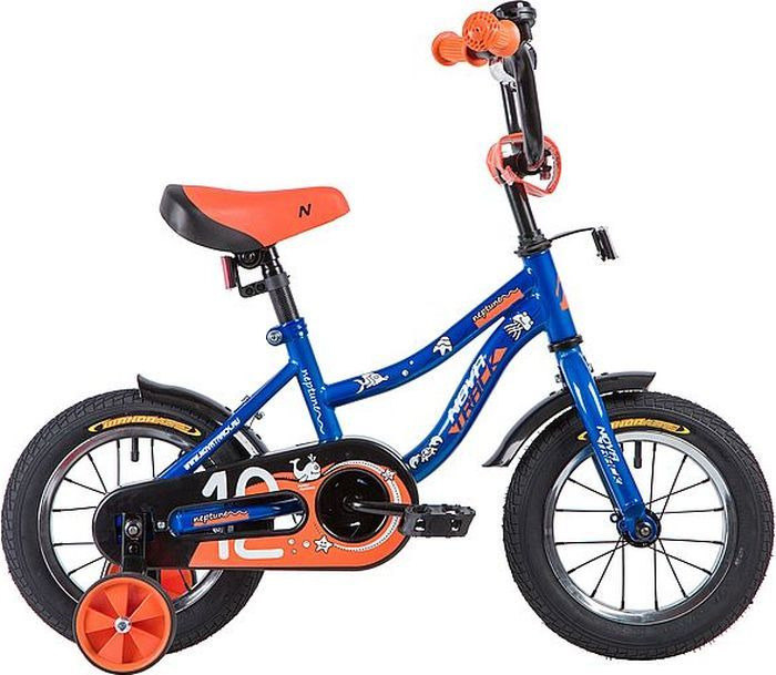 Велосипед детский Novatrack Neptune, колесо 12, рама 8,5, 123NEPTUN.BL9, синий мфу ricoh sp 230sfnw копир принтер сканер факс adf 30стр мин 1200x600dpi lan wifi nfc a4
