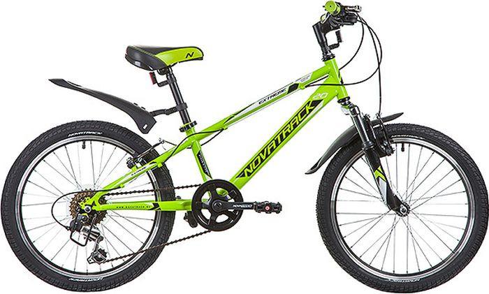 Велосипед детский Novatrack Extreme, колесо 20, рама 10, 20SH6V.EXTREME.GN9, зеленый велосипед детский novatrack fs 30 цвет бордовый 20