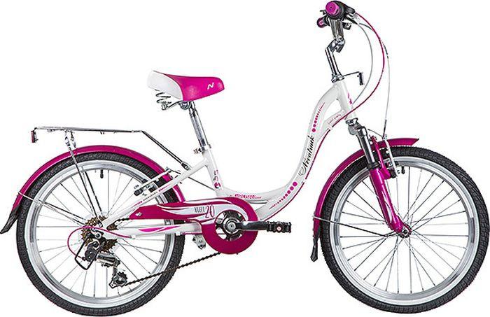 Велосипед детский Novatrack Angel, колесо 20, рама 10, 20AH6V.ANGEL.WT9, белый