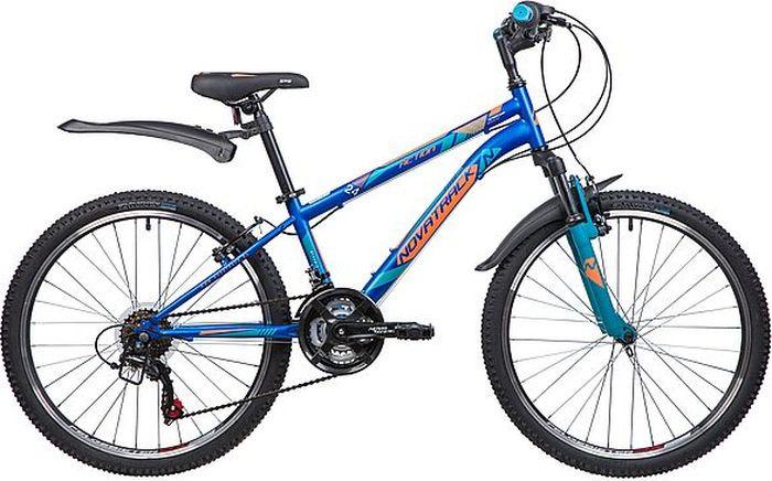 Велосипед горный Novatrack Action, колесо 24, рама 12, 24SH18SV.ACTION.12BL9, синий novatrack novatrack велосипед action 24 рама 12 синий