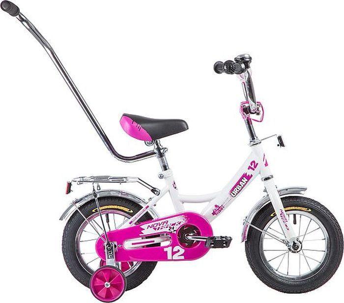 Велосипед детский Novatrack Urban, колесо 12, рама 8,5, 124URBAN.WT9, белый