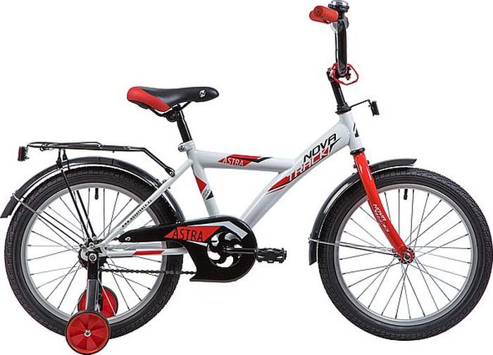 Велосипед детский Novatrack Astra, колесо 18, рама 11,5, 183ASTRA.WT9, белый