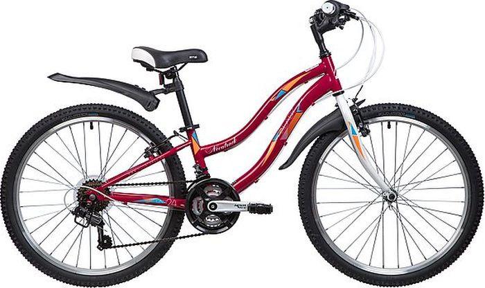 Велосипед горный Novatrack Lady, колесо 24, рама 10, 24SH18SV.LADY.10RD9, красный novatrack novatrack велосипед action 24 shimano 18 скоростей синий