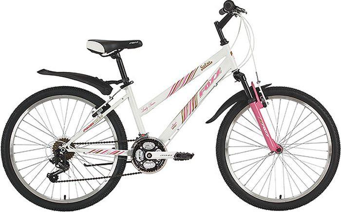 Велосипед горный Foxx Salsa, колесо 24, рама 12, 24SHV.SALSA.12WT9, белый велосипед горный foxx mango колесо 24 рама 12 24shv mango 12or9 оранжевый