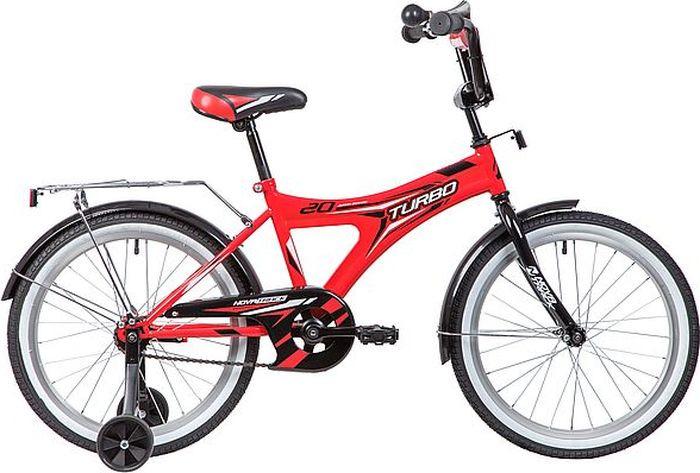 Велосипед детский Novatrack Turbo, колесо 20, рама 12, 207TURBO.RD9, красный