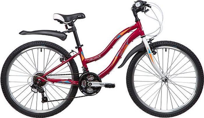 Велосипед горный Novatrack Lady, колесо 24, рама 12, 24SH18SV.LADY.12RD9, красный novatrack novatrack велосипед action 24 shimano 18 скоростей синий