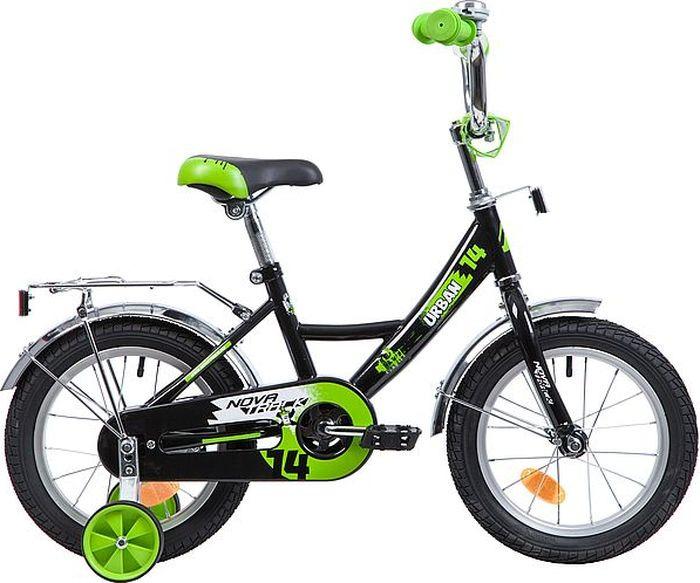 Велосипед детский Novatrack Urban, колесо 14, рама 9, 143URBAN.BK9, черный велосипед для малышей 3 5 лет 14 500 робот