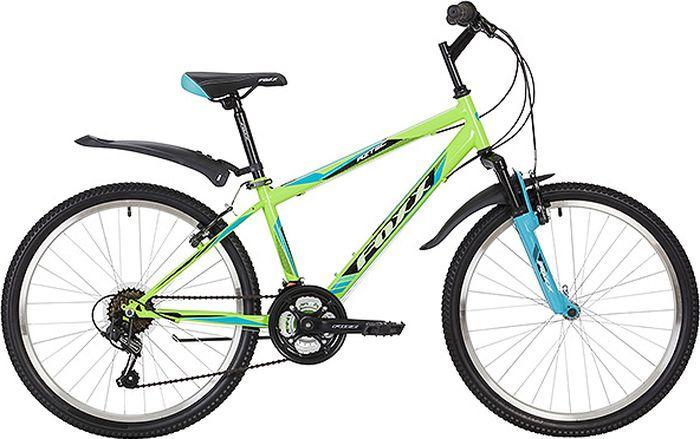 Велосипед горный Foxx Aztec, колесо 12, рама 12, 24SHV.AZTEC.12GN9, зеленый велосипед горный foxx mango колесо 24 рама 12 24shv mango 12or9 оранжевый