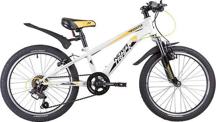 Велосипед детский Novatrack Pointer, колесо 20, рама 10, 20SH6V.POINTER.WT9, белый