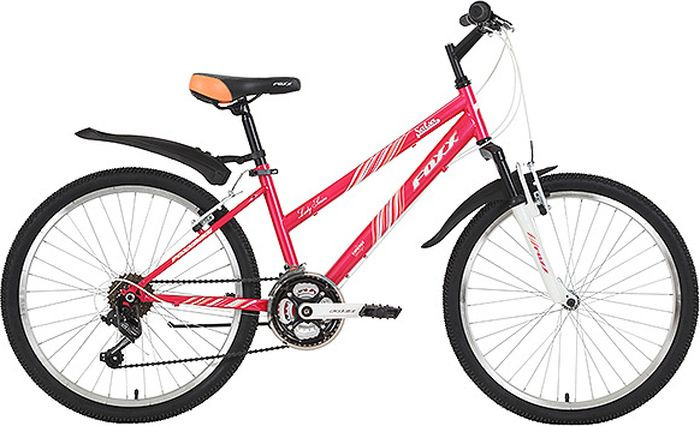 Велосипед горный Foxx Salsa, колесо 24, рама 14, 24SHV.SALSA.14PN9, розовый велосипед горный foxx mango колесо 24 рама 12 24shv mango 12or9 оранжевый