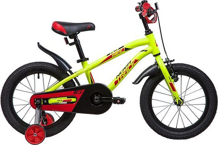 Велосипед детский Novatrack Prime, колесо 16, рама 10,5, 167APRIME.GN9, светло-зеленый велосипед novatrack prime белый 16