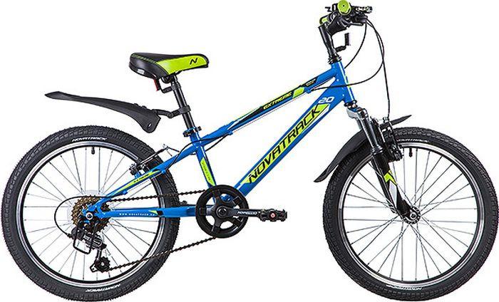 Велосипед детский Novatrack Extreme, колесо 20, рама 10, 20SH6V.EXTREME.BL9, синий
