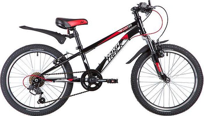 Велосипед детский Novatrack Pointer, колесо 20, рама 10, 20SH6V.POINTER.BK9, черный