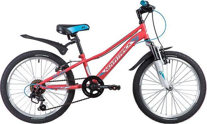 Велосипед детский Novatrack Valiant, колесо 20, рама 9,5, 20SH6V.VALIANT.CRL9, коралловый novatrack novatrack велосипед valiant 24 рама 12 18 скоростей коралловый