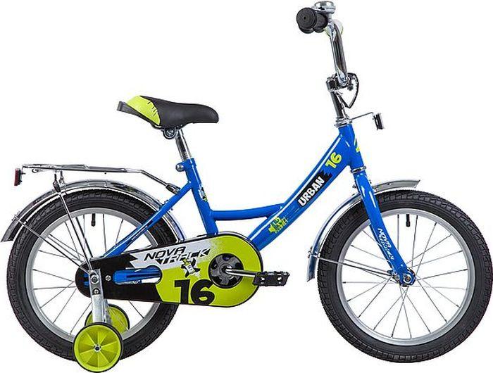 Велосипед детский Novatrack Urban, колесо 16, рама 10,5, 163URBAN.BL9, синий