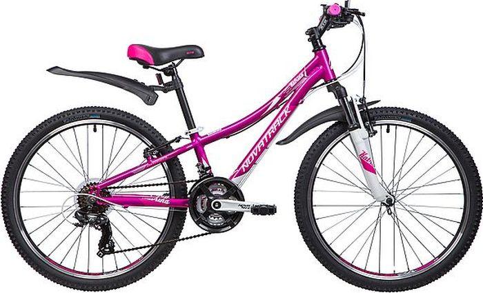 Велосипед горный Novatrack Katrina, колесо 24, рама 10, 24AHV.KATRINA.10VL9, фиолетовый novatrack novatrack велосипед katrina 24 рама 10 21 скорость белый
