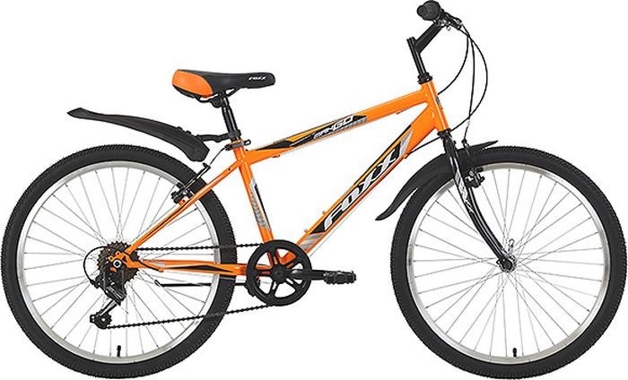 Велосипед горный Foxx ManGo, колесо 24, рама 14, 24SHV.MANGO.14OR9, оранжевый