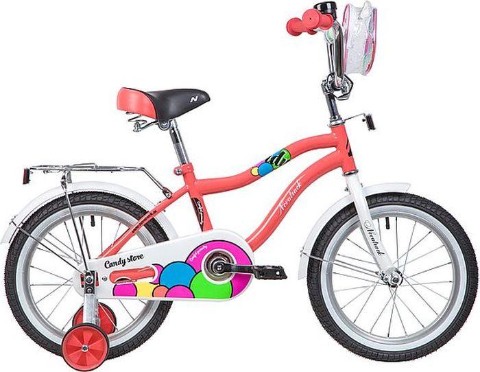 """Велосипед детский Novatrack Candy, колесо 16"""", рама 10,5"""", 165CANDY.CRL9, коралловый"""