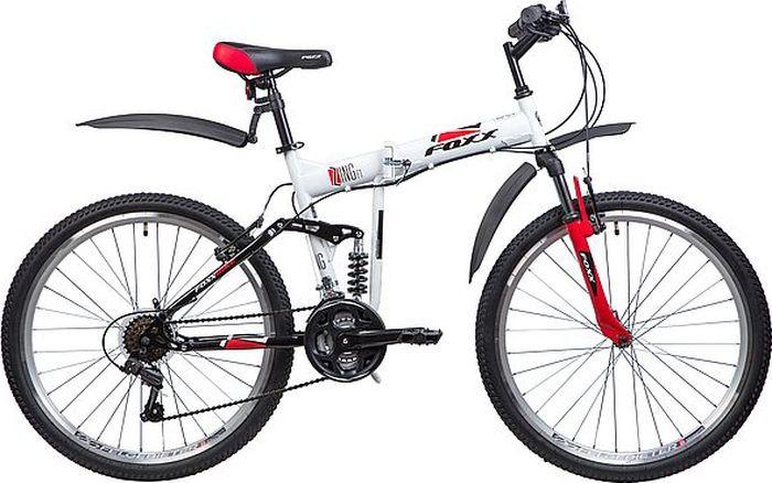 Велосипед складной Foxx Zing F1, колесо 26, рама 18, 26SFV.ZINGF1.18WT8, белый