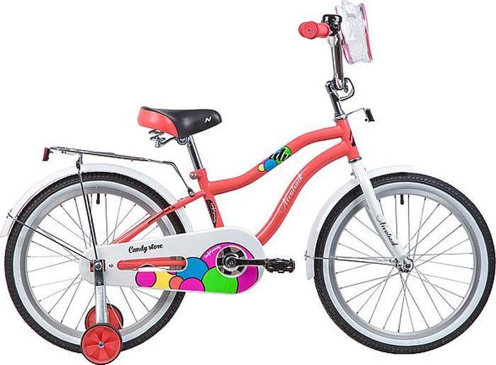 Велосипед детский Novatrack Candy, колесо 20, рама 12, 205CANDY.CRL9, коралловый