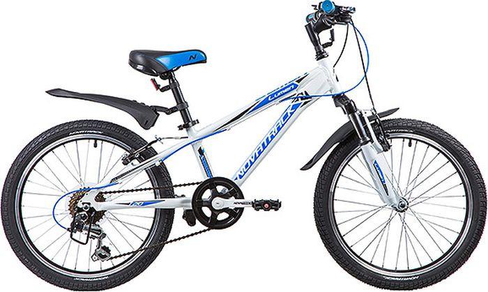 Велосипед детский Novatrack Lumen, колесо 20, рама 10, 20AH6V.LUMEN.WT9, белый велосипед novatrack lumen синий 24 рама 13