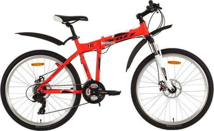 Велосипед складной Foxx Zing H2, колесо 26, рама , 26AHD.ZINGH2.18RD8, красный велосипед горный foxx mango колесо 24 рама 12 24shv mango 12or9 оранжевый