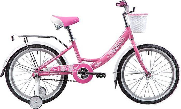 Велосипед детский Novatrack Girlish, колесо 20, рама 12, 205AGIRLISH.PN9, розовый велосипед novatrack girlish line 20 2016 бело фиолетовый