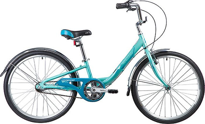 Велосипед горный Novatrack Ancona, колесо 24, рама 10, 24AH3V.ANCONA.10GN9, зеленый novatrack novatrack велосипед ancona 24 shimano nexus рама 10 3 скорости зеленый