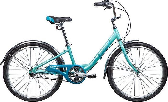 Велосипед горный Novatrack Ancona, колесо 24, рама 12, 24AH3V.ANCONA.12GN9, зеленый novatrack novatrack велосипед ancona 24 shimano nexus рама 10 3 скорости зеленый