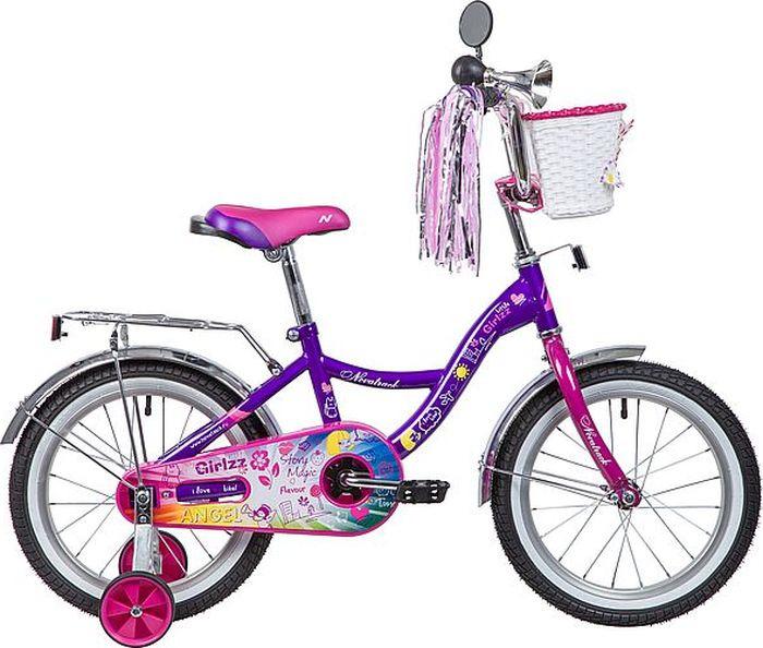 Велосипед детский Novatrack Little Girlzz, колесо 16, рама 10,5, 167GIRLZZ.VL9, фиолетовый novatrack novatrack детский велосипед vector 12 фиолетовый