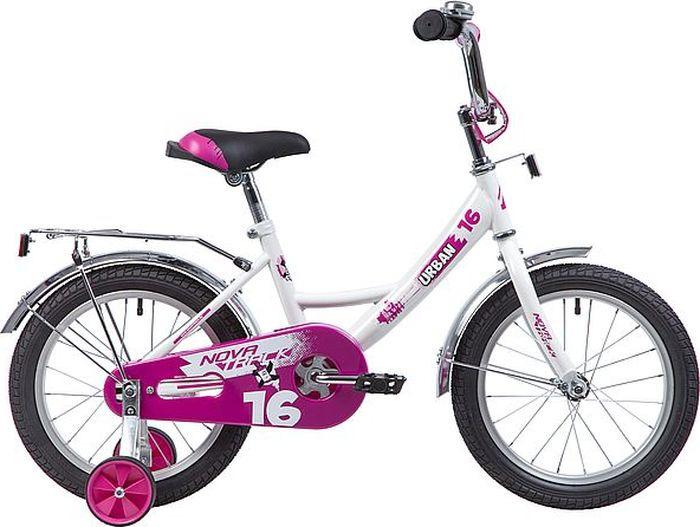 Велосипед детский Novatrack Urban, колесо 16, рама 10,5, 163URBAN.WT9, белый