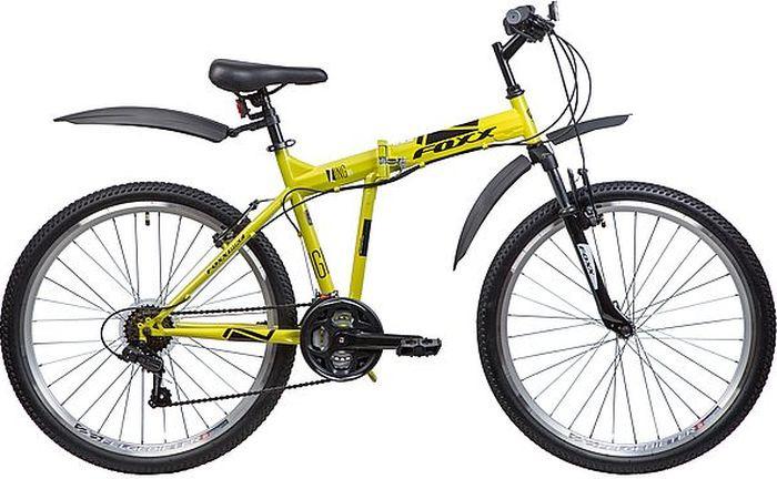 Велосипед складной Foxx Zing H1, колесо 26, рама 18, 26SHV.ZINGH1.18GN8, зеленый велосипед горный foxx mango колесо 24 рама 12 24shv mango 12or9 оранжевый