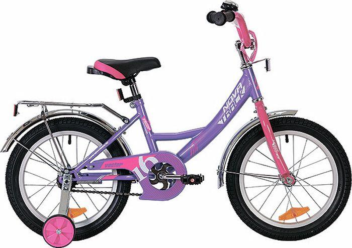 Велосипед детский Novatrack Vector, колесо 16, рама 10,5, 163VECTOR.LC9, сиреневый велосипед детский novatrack fs 30 цвет светло сиреневый белый черный 20