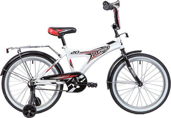 Велосипед детский Novatrack Turbo, колесо 20, рама 12, 207TURBO.WT9, белый