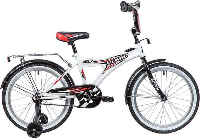 цена на Велосипед детский Novatrack Turbo, колесо 20, рама 12, 207TURBO.WT9, белый