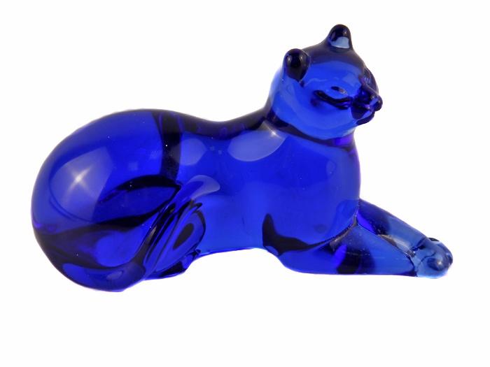 Статуэтка Franklin Mint Кошка, синий статуэтка сова в делфтском стиле из серии the curio cabinet owls collection фарфор роспись the franklin mint сша конец xx века