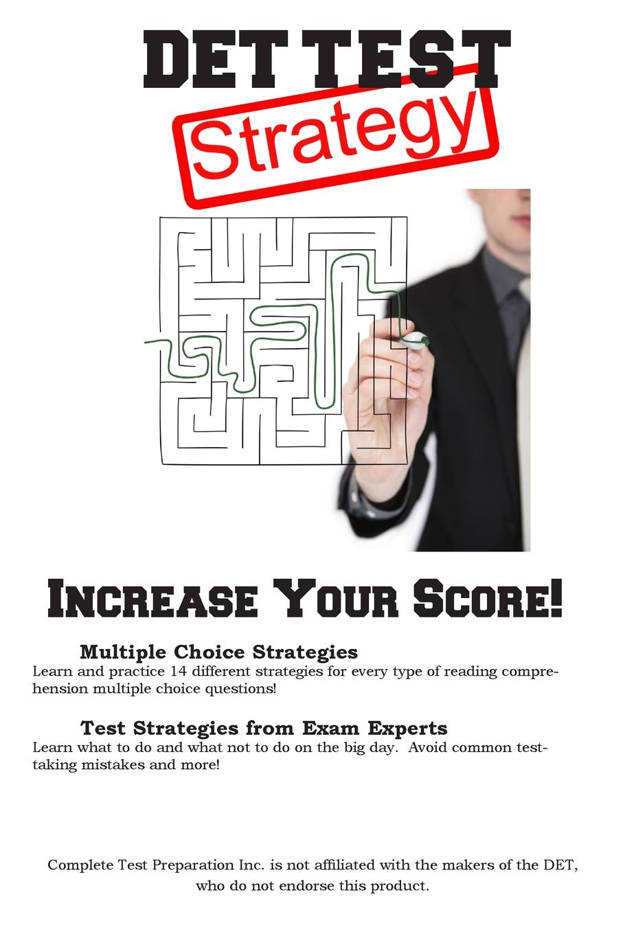 Complete Test Preparation Inc. DET Test Strategy. Winning Multiple Choice Strategies for the Diagnostic Entrance Test DET marcus alexander strategy for the corporate level where to invest what to cut back and how to grow organisations with multiple divisions