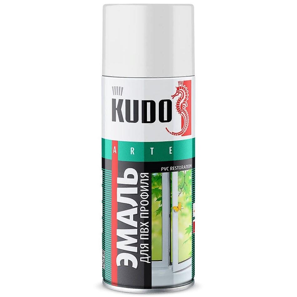 Эмаль KUDO для пвх профиля, аэрозоль, 520 мл, белый ручка для пластиковых окон пвх бел