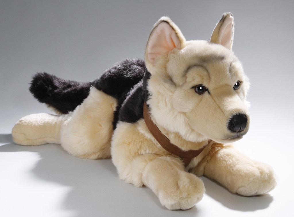 Мягкая игрушка Leosco Немецкая овчарка-спасатель коричневый