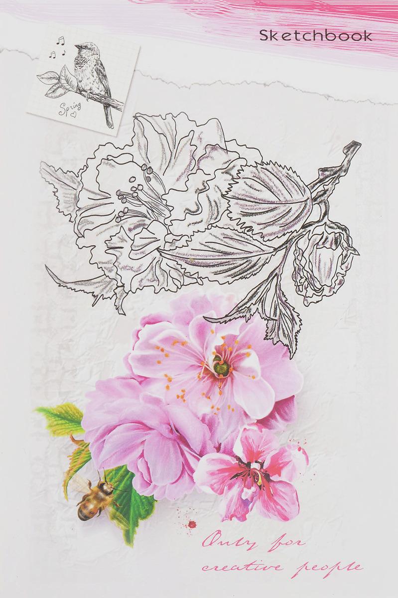 Скетчбук Miland Розовый стиль, формат A6, 48 листов Miland