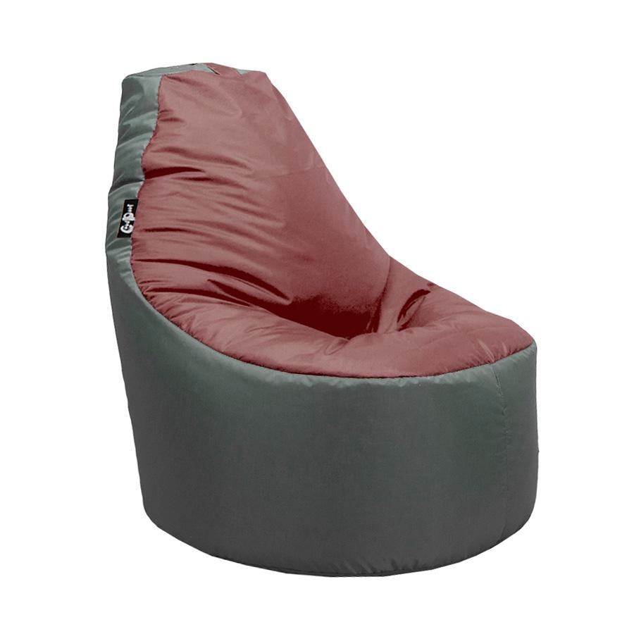 Кресло мешок GoodPoof Серый-Бордовый