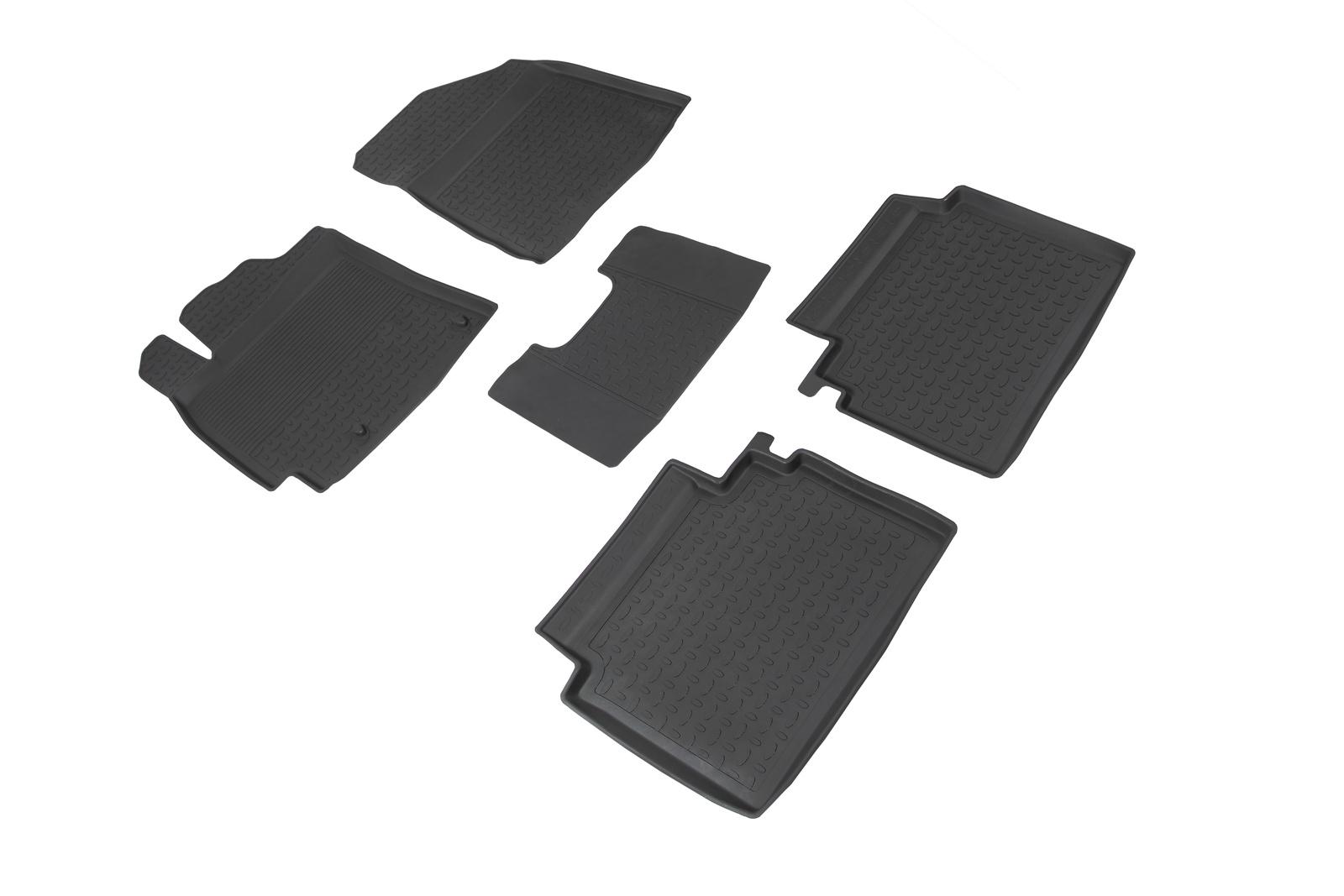 Коврики в салон автомобиля Seintex Резиновые коврики с высоким бортом для KIA Cerato IV 2018-н.в. недорго, оригинальная цена
