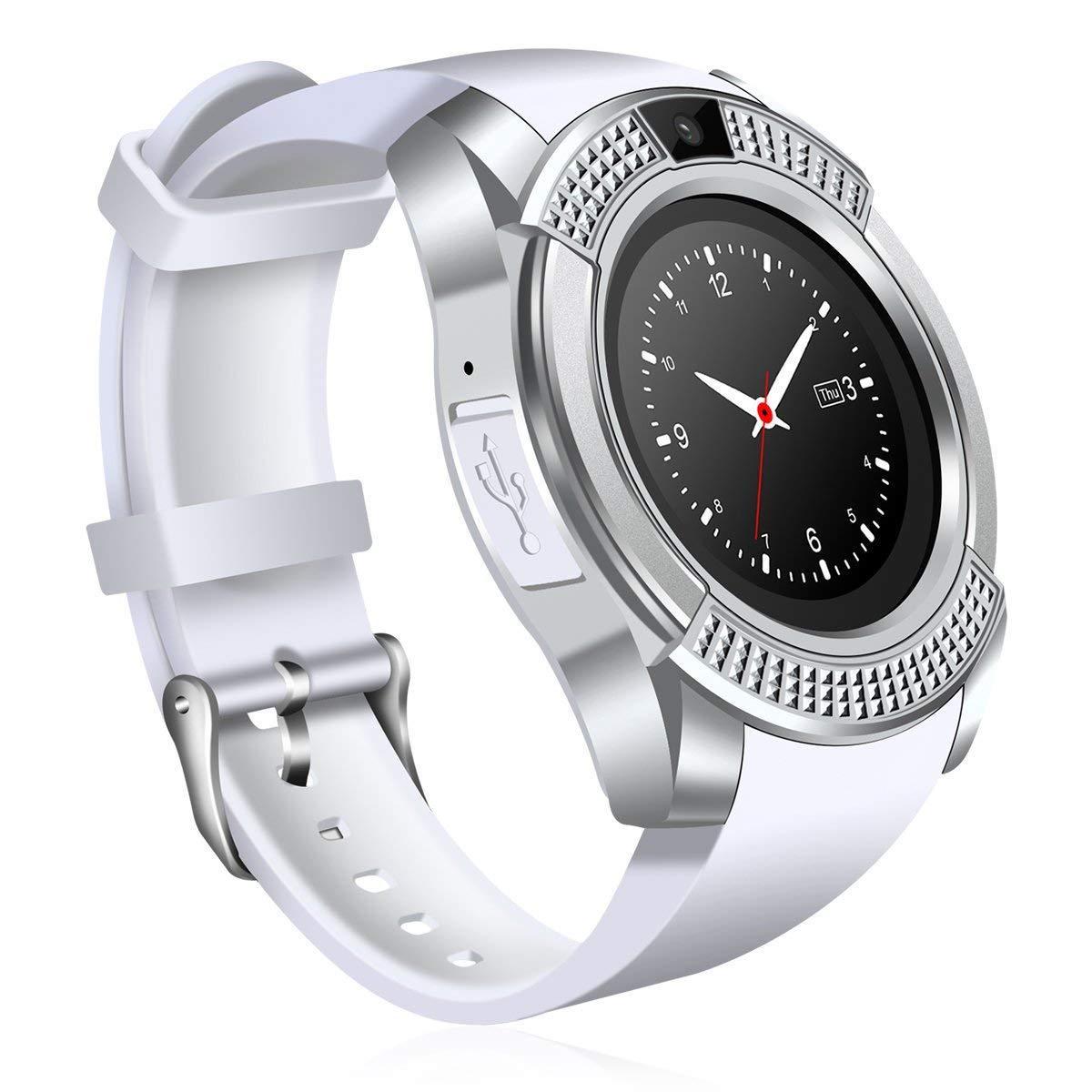 Умные часы No Name V8 Plus, белый цены