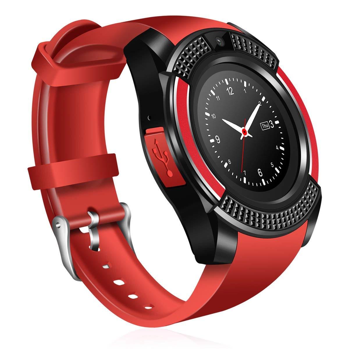Умные часы No Name V8 Plus, красный цены
