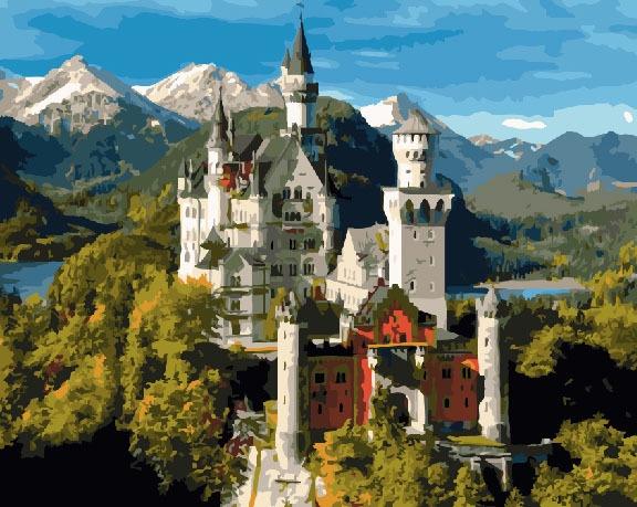 Картина по номерам ВанГогВоМне Замок спящей красавицы (Нойшванштайн) lego disney princess сказочный замок спящей красавицы 41152