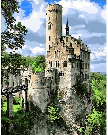 Картина по номерам ВанГогВоМне Рыцарский замок робинс 3d театр рыцарский замок